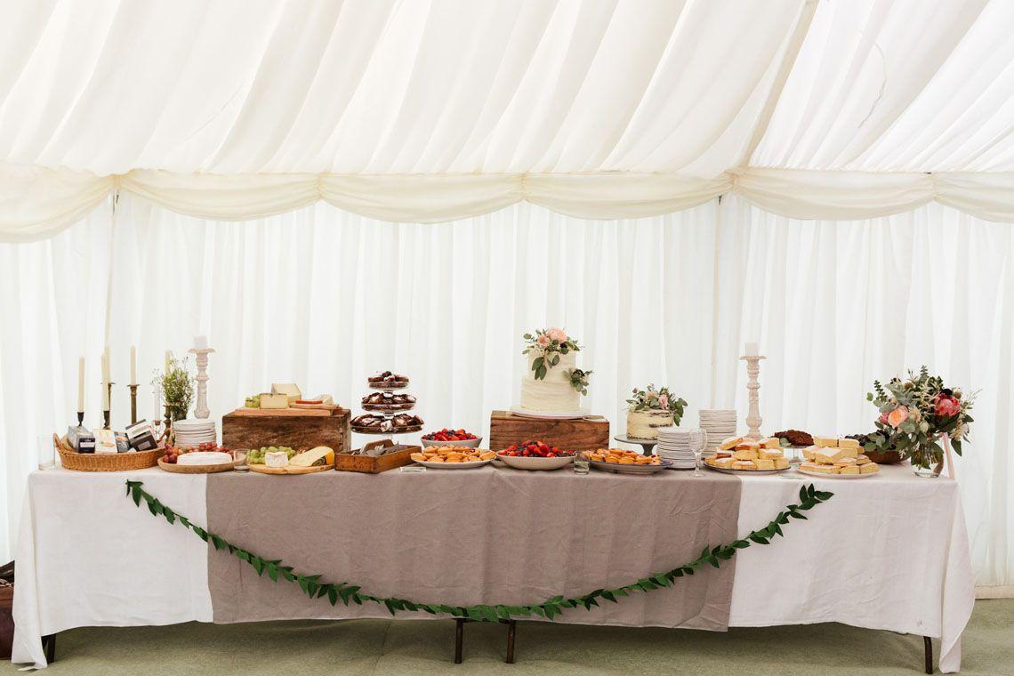Wedding cake table decoration ideas  Polly Rowan Blog  Wedding Cake buffet table  WEDDING DAY