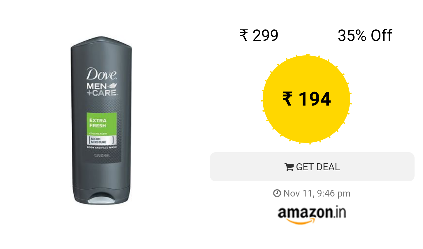 Dove Men Care Body And Face Wash Extra Fresh 400ml Deals In Aqua Moisture Refill 400 Ml