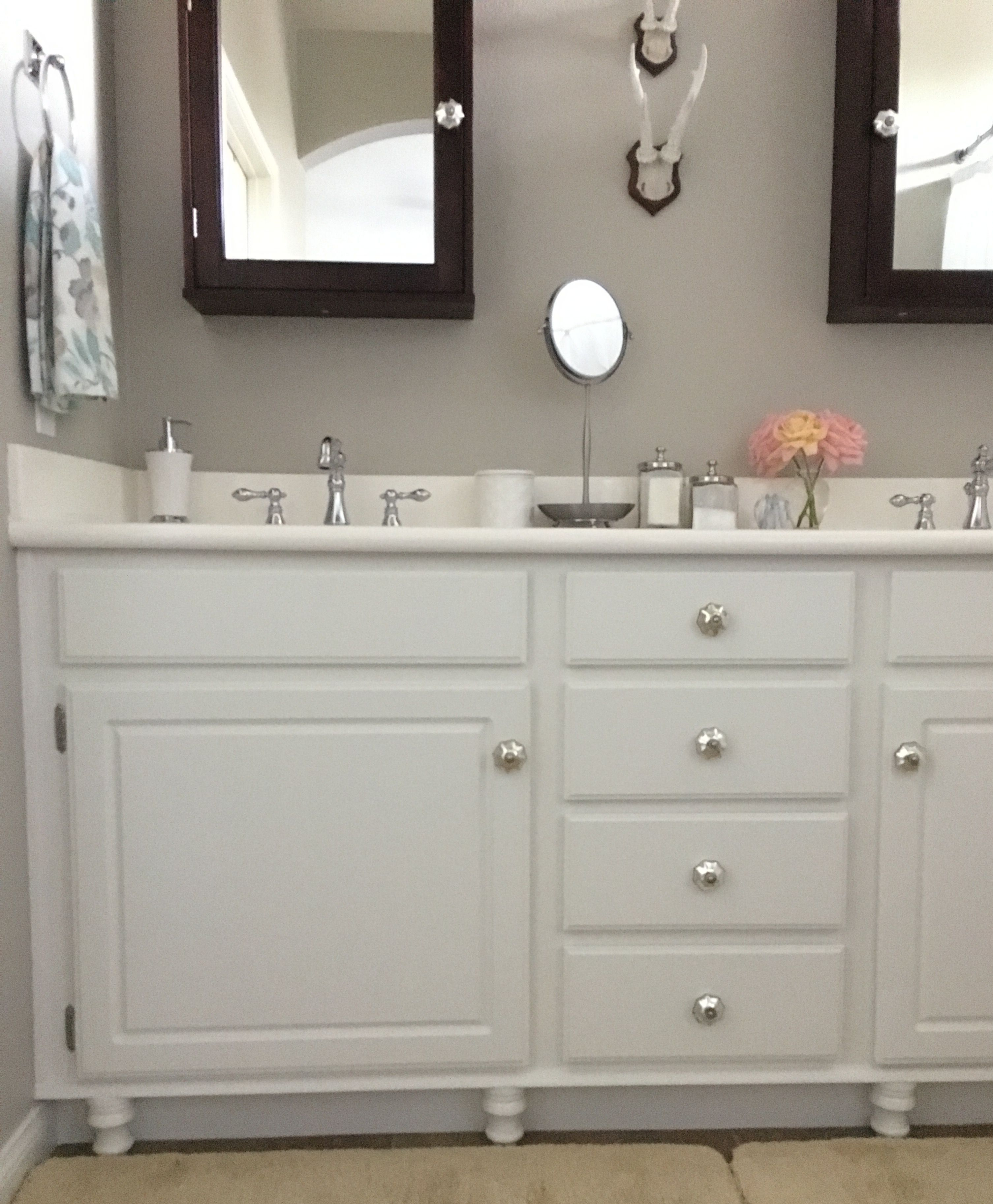 Adding Wood Feet To A Bathroom Vanity Bathroom Vanity Bathrooms