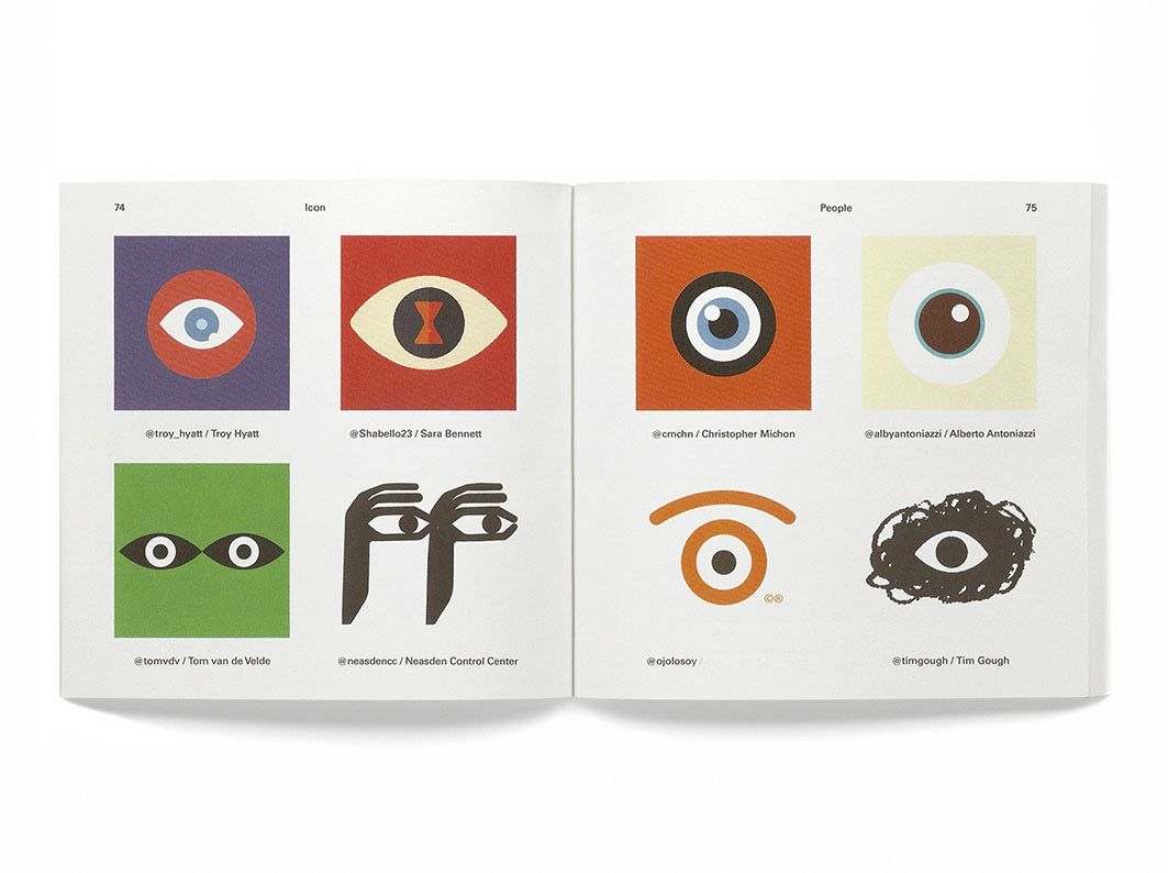 i share with you, proudly,     that this eye has been published  on the 'icon book' by @Counterprint     !   °D