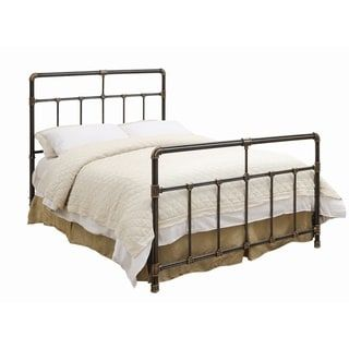 eccb25af3e03 Shop for Silas Antique Brass Metal Bed. Get free shipping at Overstock.com  - Your Online Furniture Outlet Store! Get 5% in rewards with Club O! -  26912487