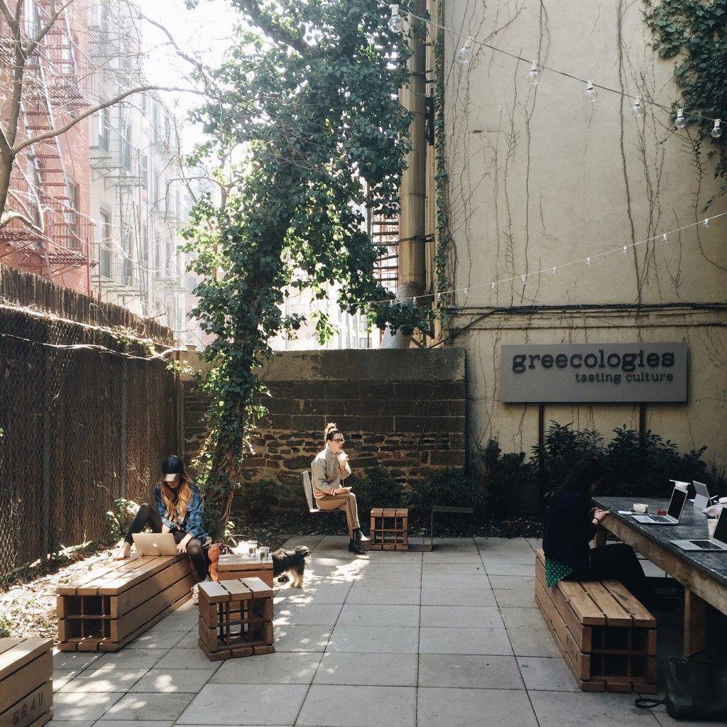 escapeyourdesk nyc backyard coffee shops greecologies outdoor