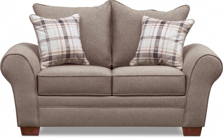 Rowan Loveseat Gray Value City Furniture And Mattresses Greatlivingroom