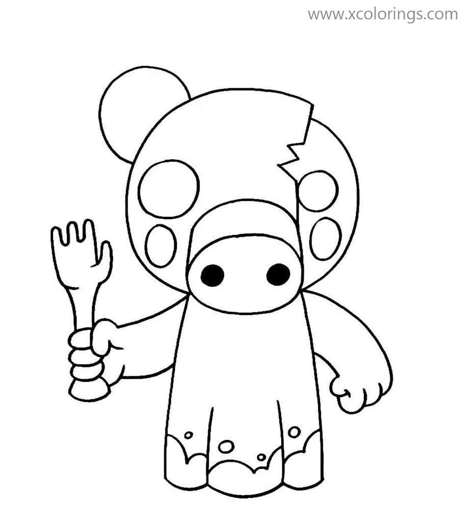 Piggy Roblox Coloring Pages Zompiggy Coloring Pages Cool Coloring Pages Pokemon Coloring Pages