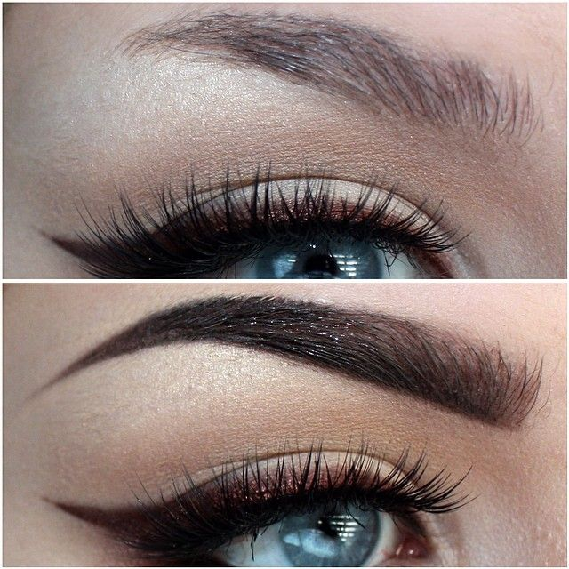 My brow before and after Using @anastasiabeverlyhills Pro ...