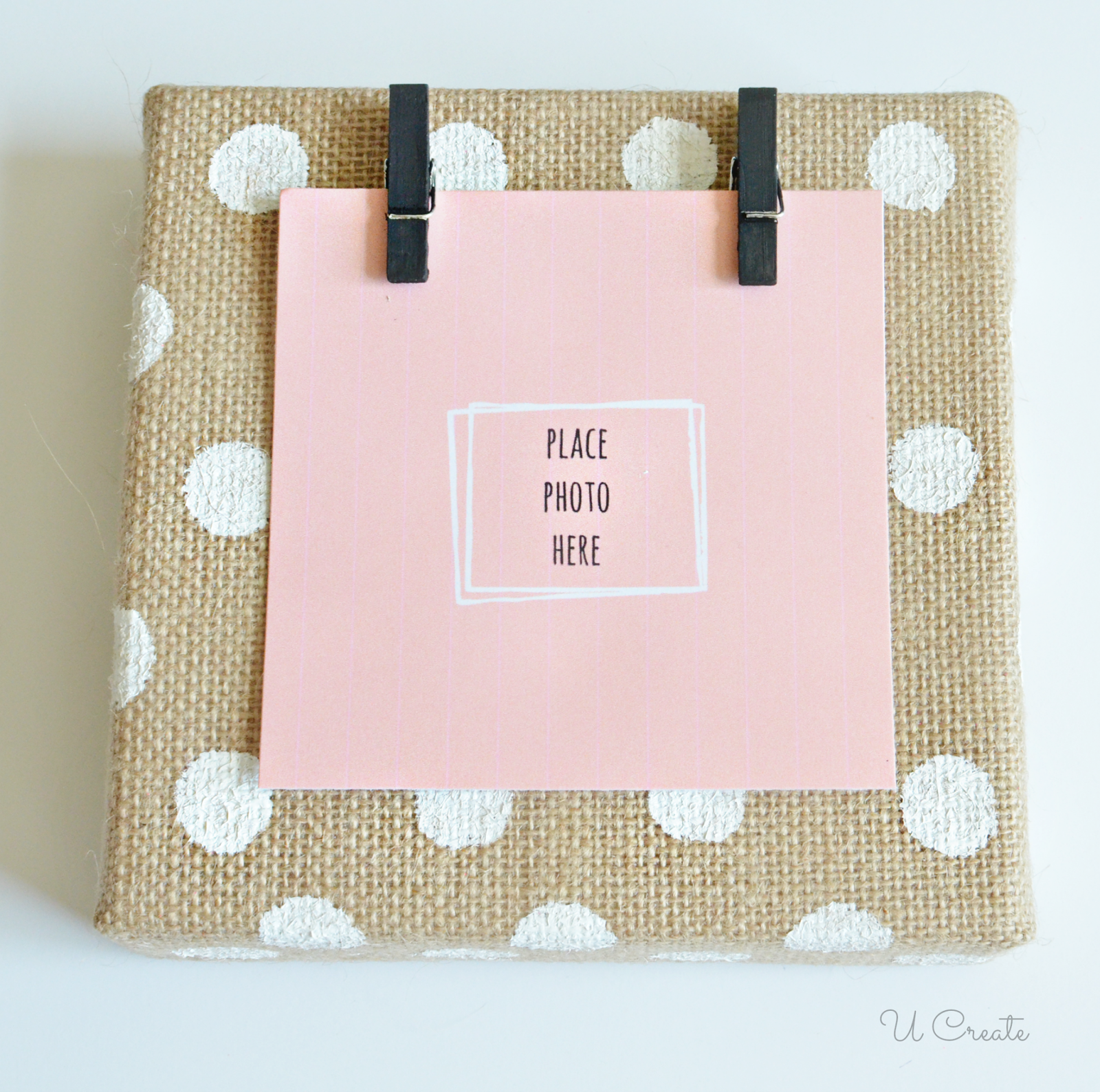 DIY Canvas Burlap Frame by U Create perfect to make different sizes ...
