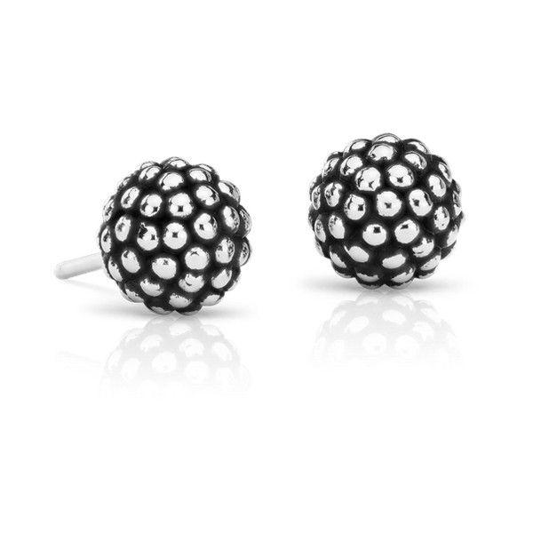 Blue Nile Caviar Bead Stud Earrings ($75) ❤ liked on Polyvore featuring jewelry, earrings, bead jewellery, blue nile, sterling silver earrings, sterling silver bead jewelry and beaded jewelry