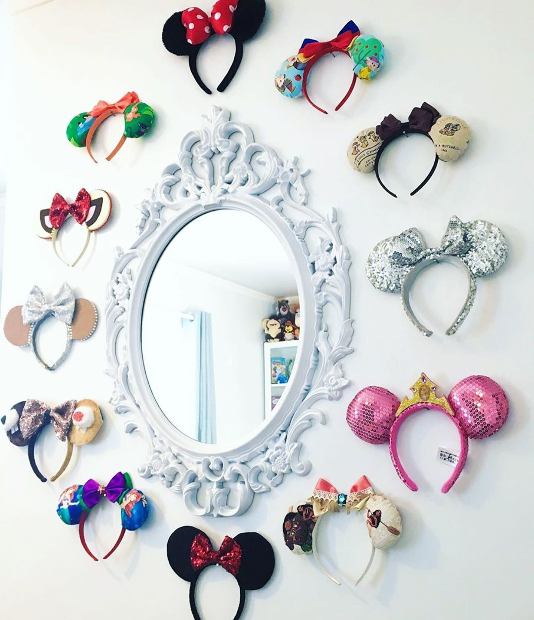 "Disney At Home on Instagram: ""Mirror mirror on the wall.. which pair should I wear? Because I love them all!� Thank you for sharing @joannedoesdisney!️ #mydisneyhome…"""