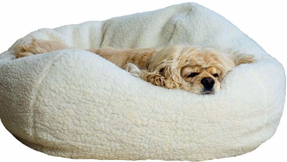 Free Form Pet Bed Comfort, Provides Security, Soft Sherpa