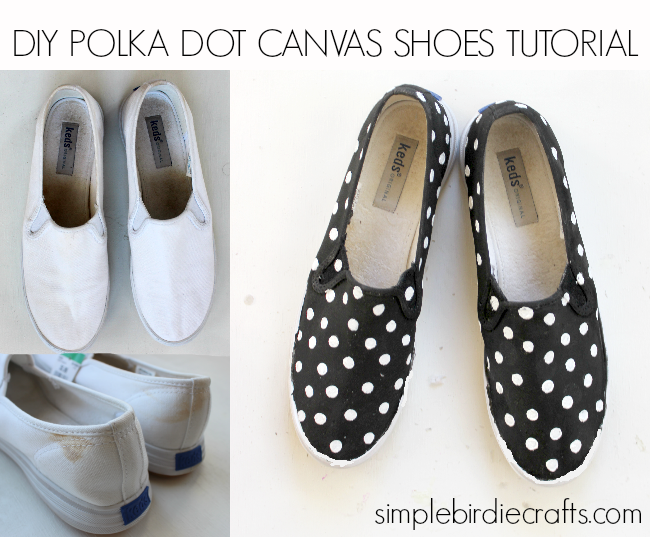 sewing, craft and inspirational blog : POLKA DOT CANVAS SHOE TUTORIAL