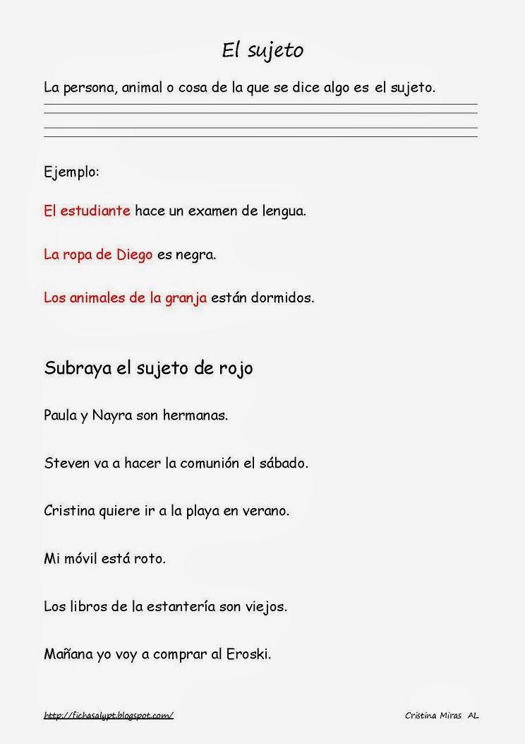 Cositas de AL y PT: Segundo ciclo | tareas fer | Pinterest | Lengua ...