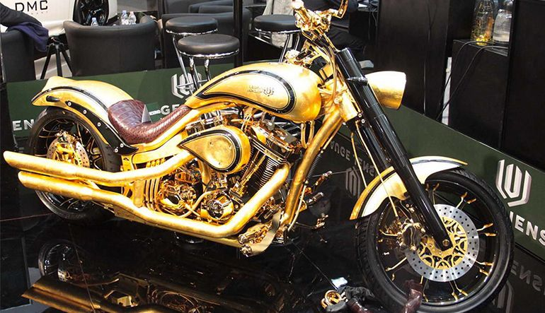 Lauge Jensen World S Most Expensive Motorcycle Golden Bike