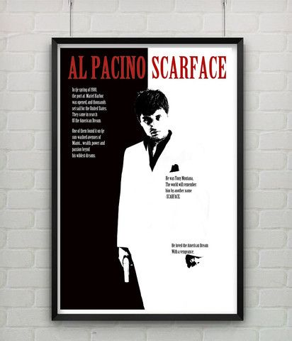 Scarface (1983) Home Decor Movie Poster Movie posters
