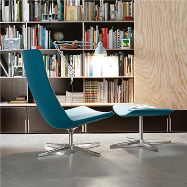 This has to go on my wish list for home although fantastic to go in a reception area too! Catifa 80 chair on 4 star base with footstool.