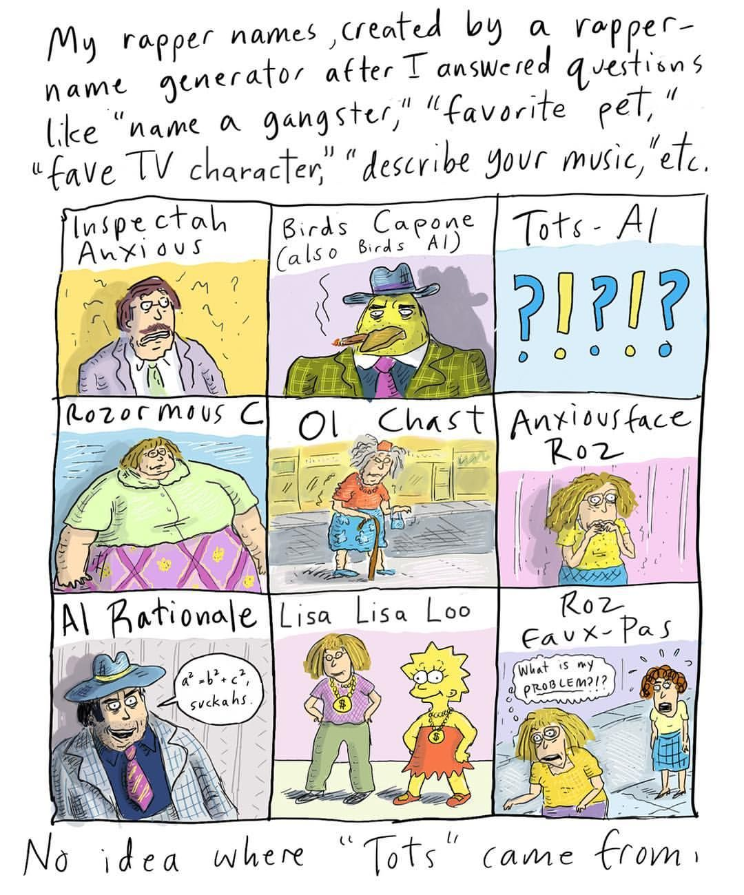 Roz Chast Roz chast, Birds, Character