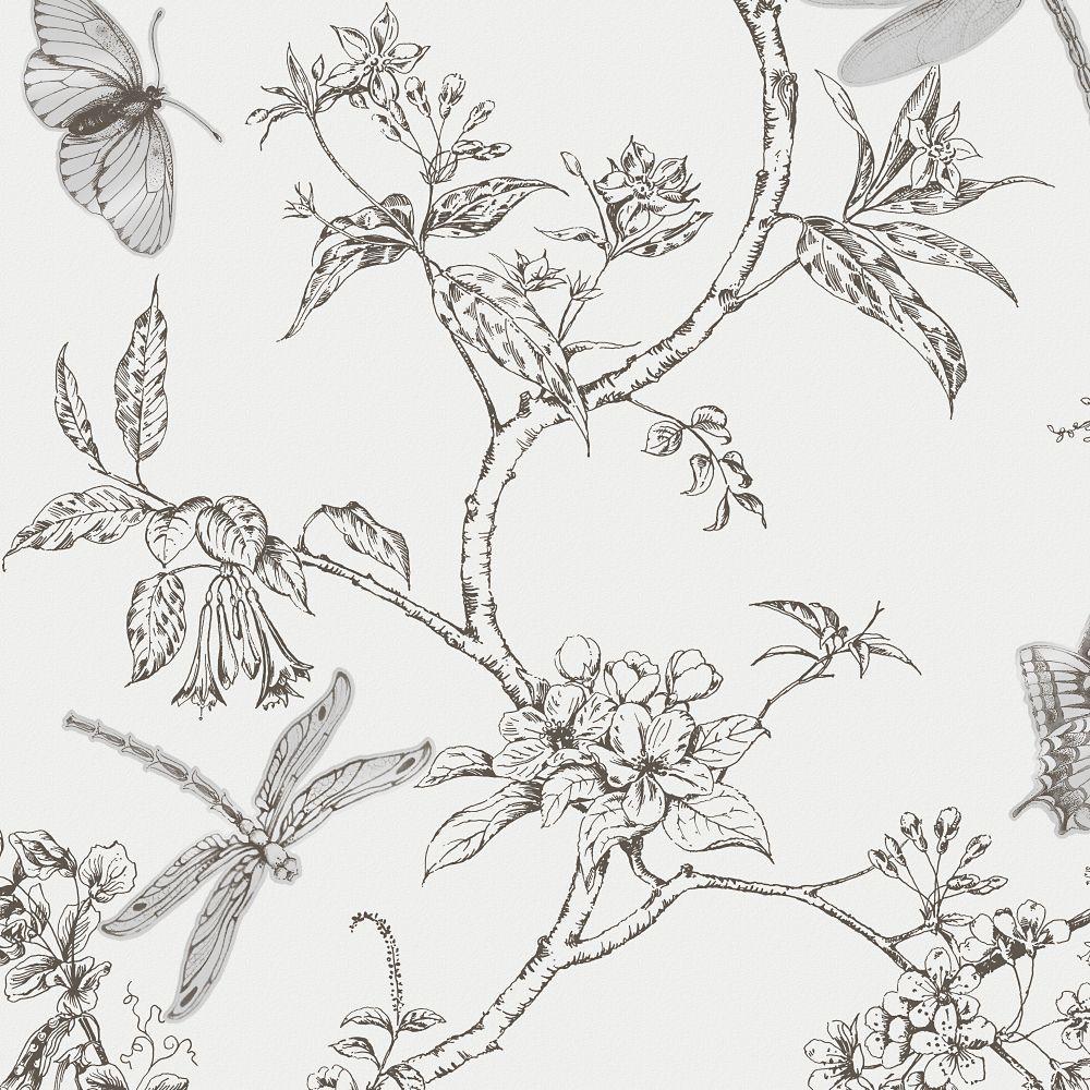 Nature Trail Black/White Wallpaper Wallpaper for tatum's