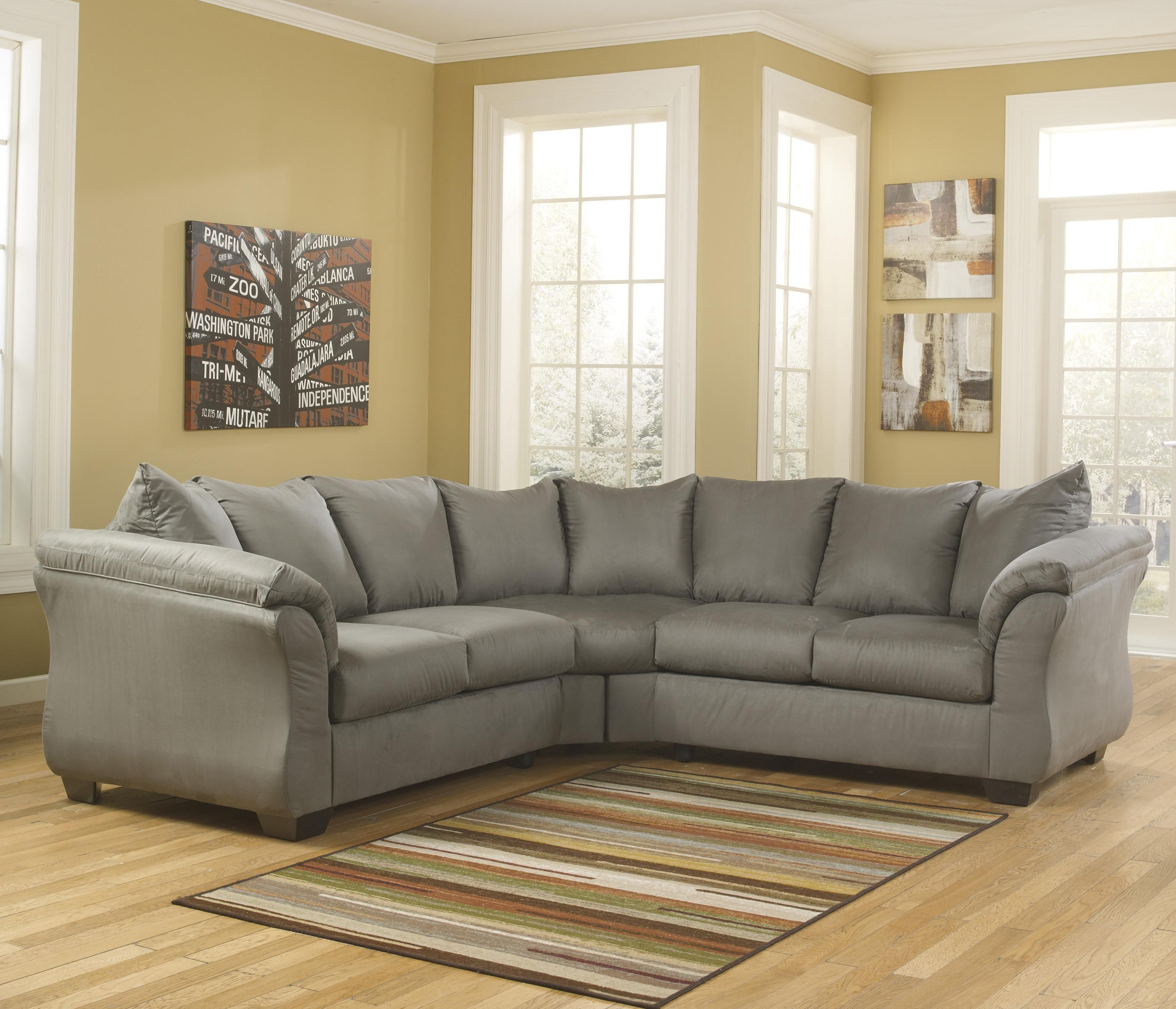 Darcy - Cobblestone Sectional Sofa by Signature Design by Ashley ...