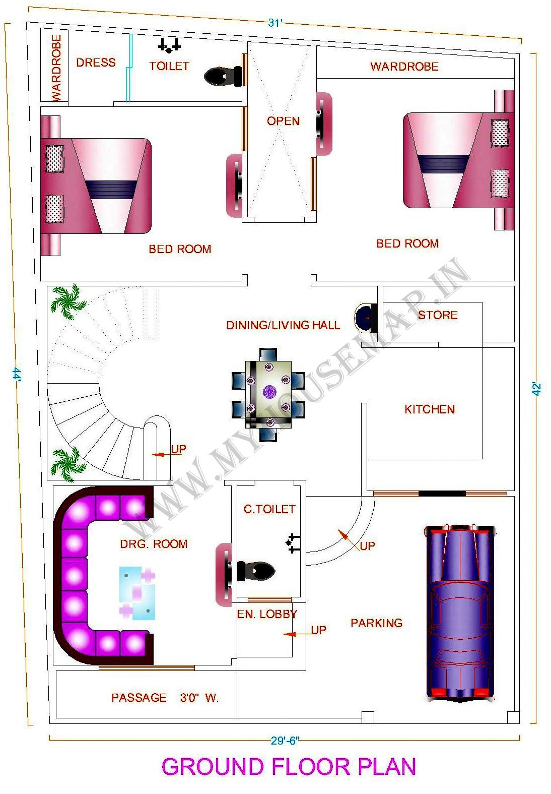 Beautiful Home Map Design Free Layout Plan In India Images ...