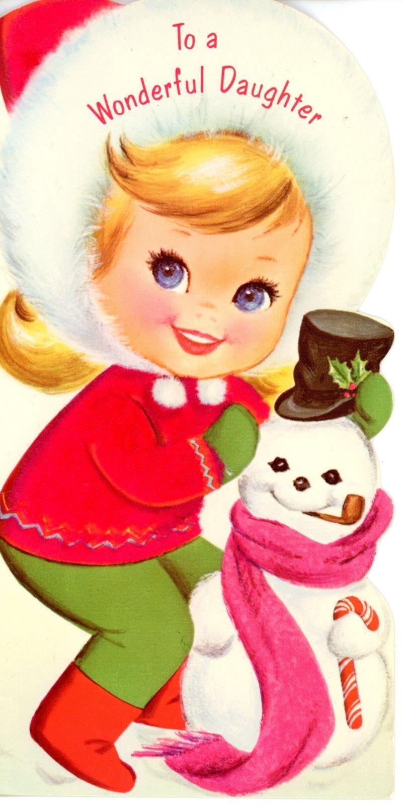 Vintage Musical Kitten Norcross Christmas Greeting Card