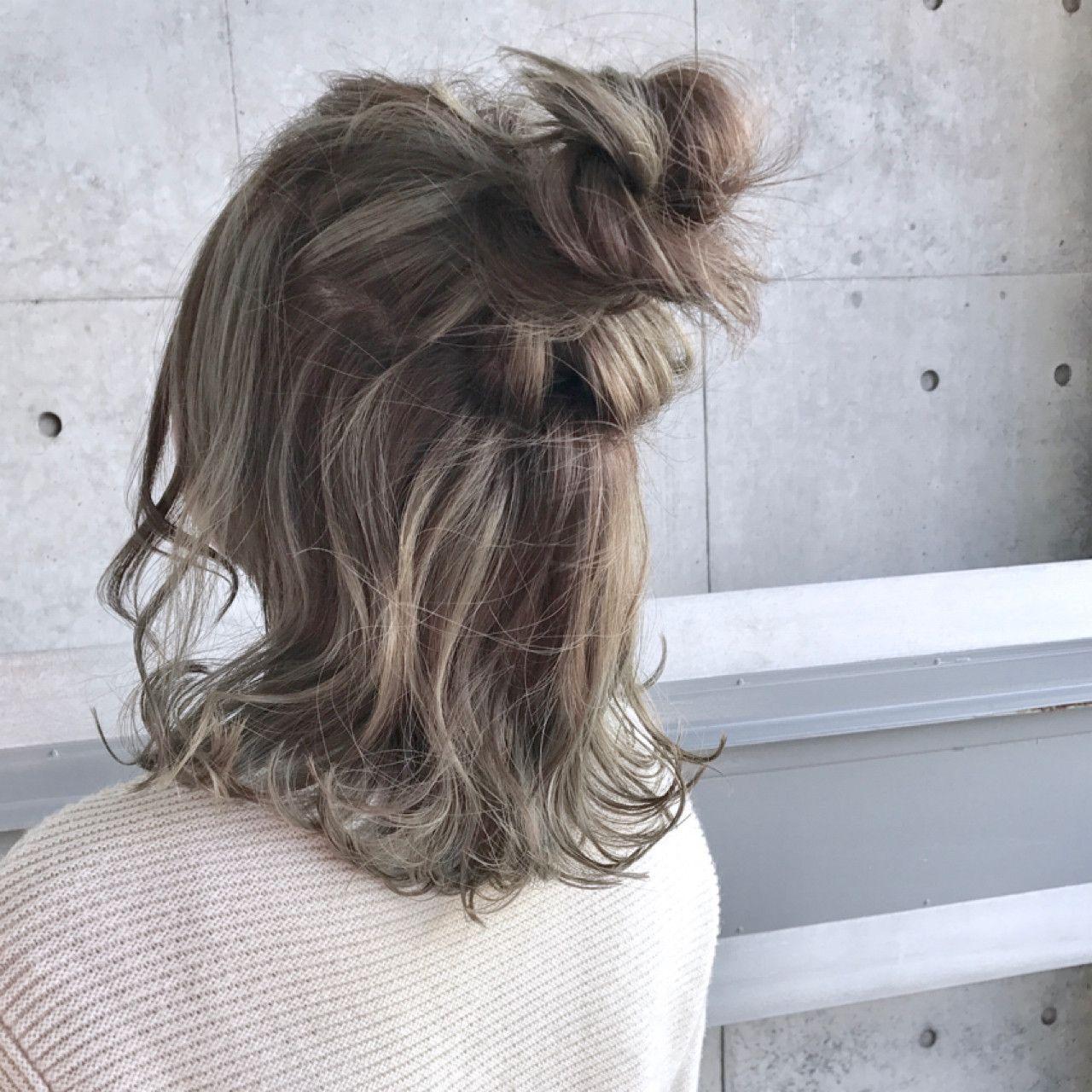 カーキアッシュ ブルーアッシュ カーキブルー 髪 色 髪 カラー