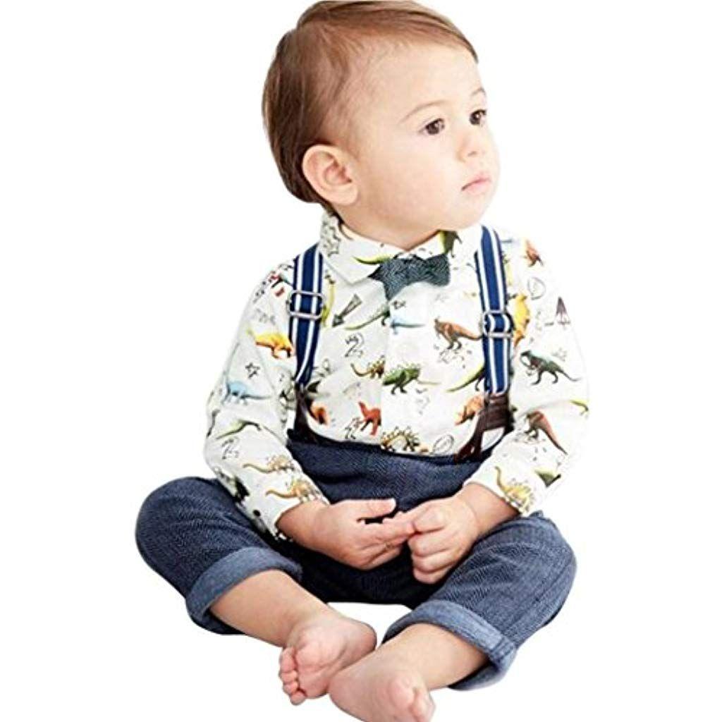 Culater 2018 Bambino Piccolo Bambini Ragazzi T-Shirt di Papillon a Maniche  Lunghe con Stampa d52a214788f