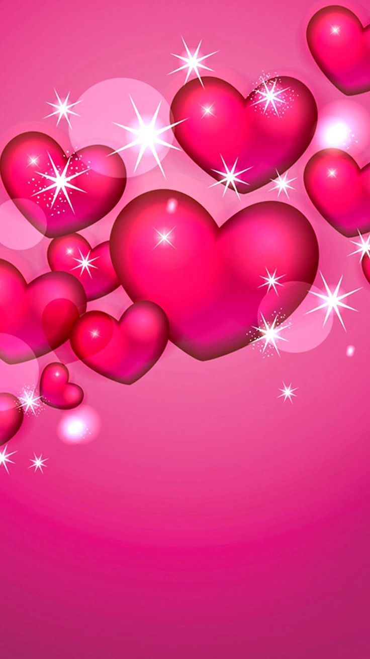 Related image Heart wallpaper, Pink heart background