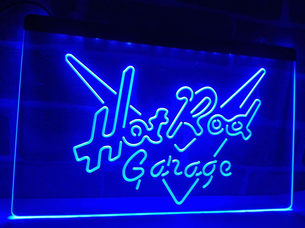 Hot Rod Garage Car Display LED Neon Light Sign Home Decor Crafts