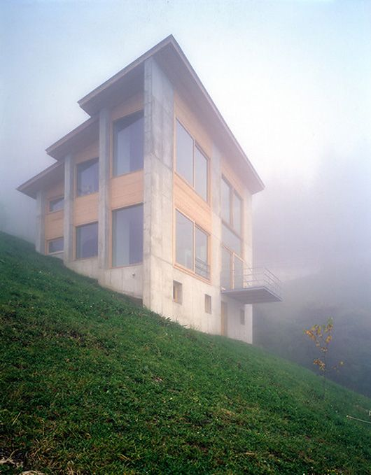 This house is located on the steep slopes of Austria 4,365 feet above sea level. The house is occupied by a pianist who retreated here for what I would assume the most obvious reason—serenity. The ...
