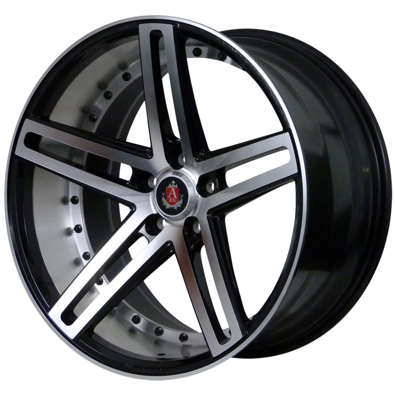AXE EX20 BLACK POLISHED FACE+BARREL alloy wheels with stunning look for 5 studd wheels in BLACK POLISHED FACE+BARREL finish with 20 inch rim size