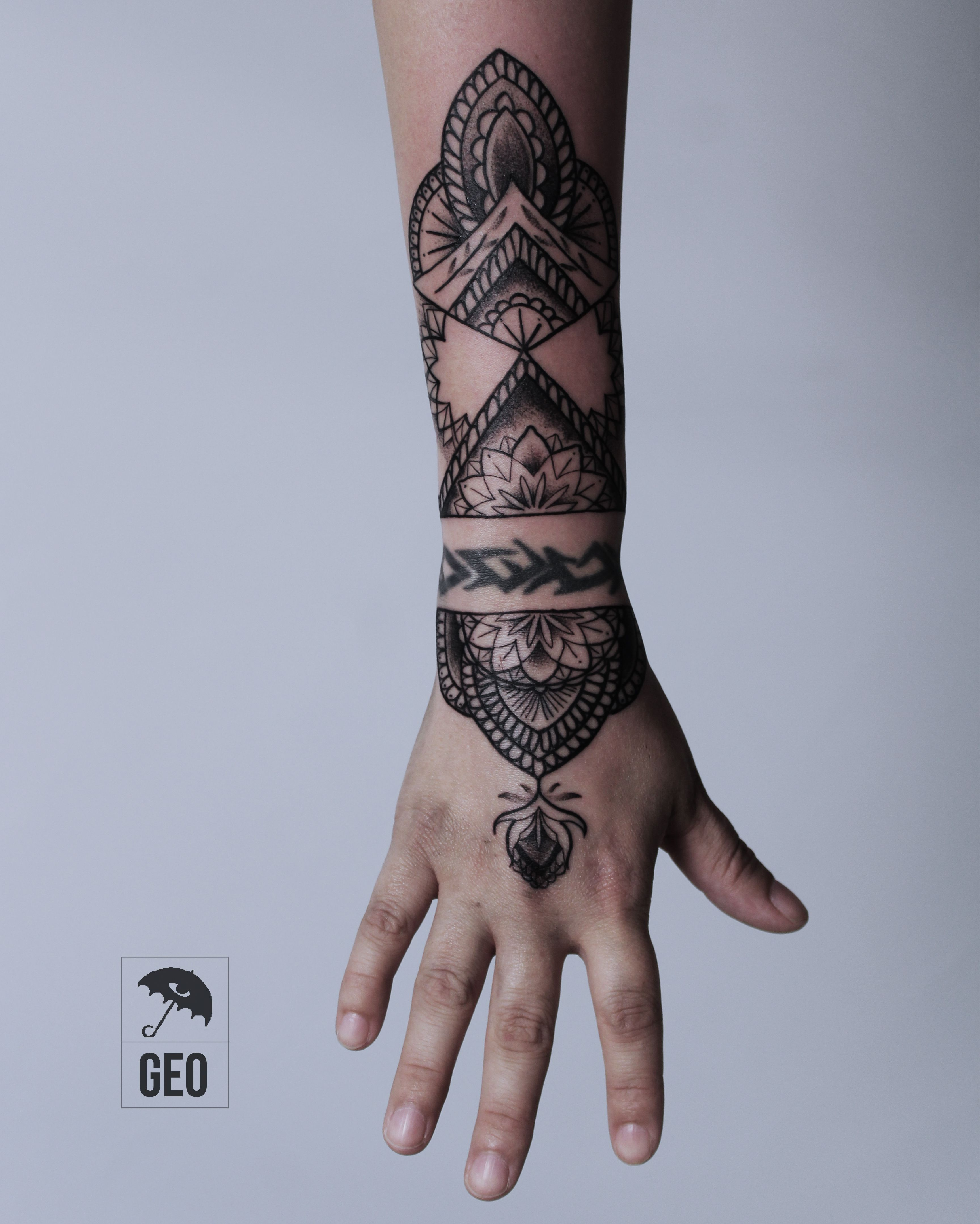 Ornamental Bracelet Tattoo On The Left Wrist Tattoo: Ornamental, Ornamental Tattoo, Ornamental Tattoos, Wrist