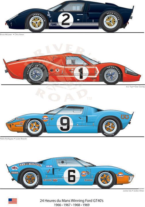 Pin By Paul Randich On Cars Classic Racing Cars Ford Gt40