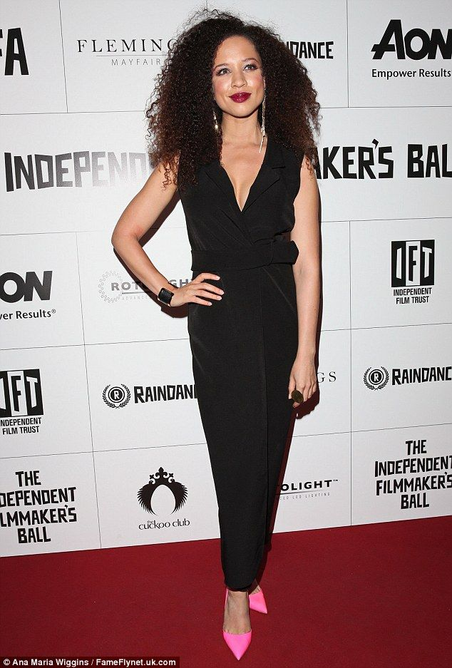 Turning heads: Former Coronation Street star Natalie Gumede made a welcome return to the spotlight as she lead the glamour at the Raindance Independent Filmmakers Ball at London's Cafe de Paris on Wednesday evening