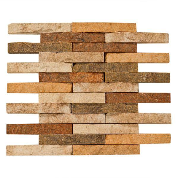 Decorative Travertine Tile Orsini Stacked Stone Brick Mosaic Decorative Travertine Tile