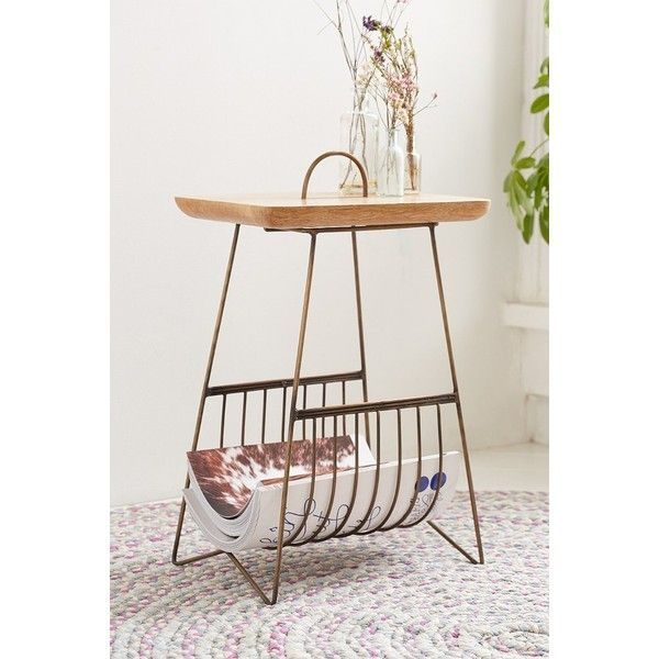 Plum & Bow Wire Side Table (180 AUD) ❤ liked on Polyvore featuring ...