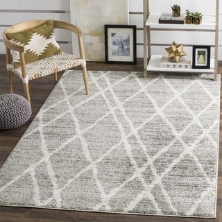 Safavieh Adirondack Modern Moroccan Ivory Silver Rug 8 X 10 By