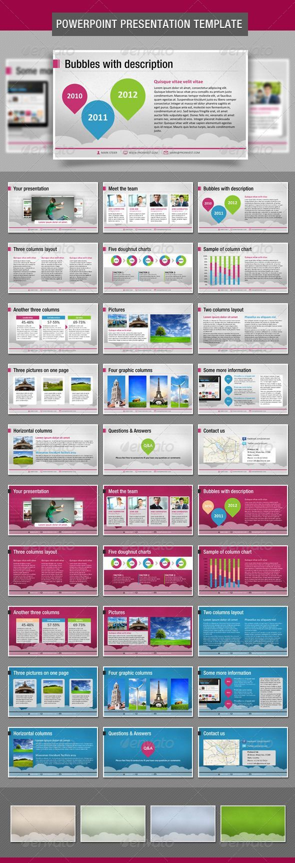 bubbles powerpoint presentation template | ppt design | pinterest, Modern powerpoint