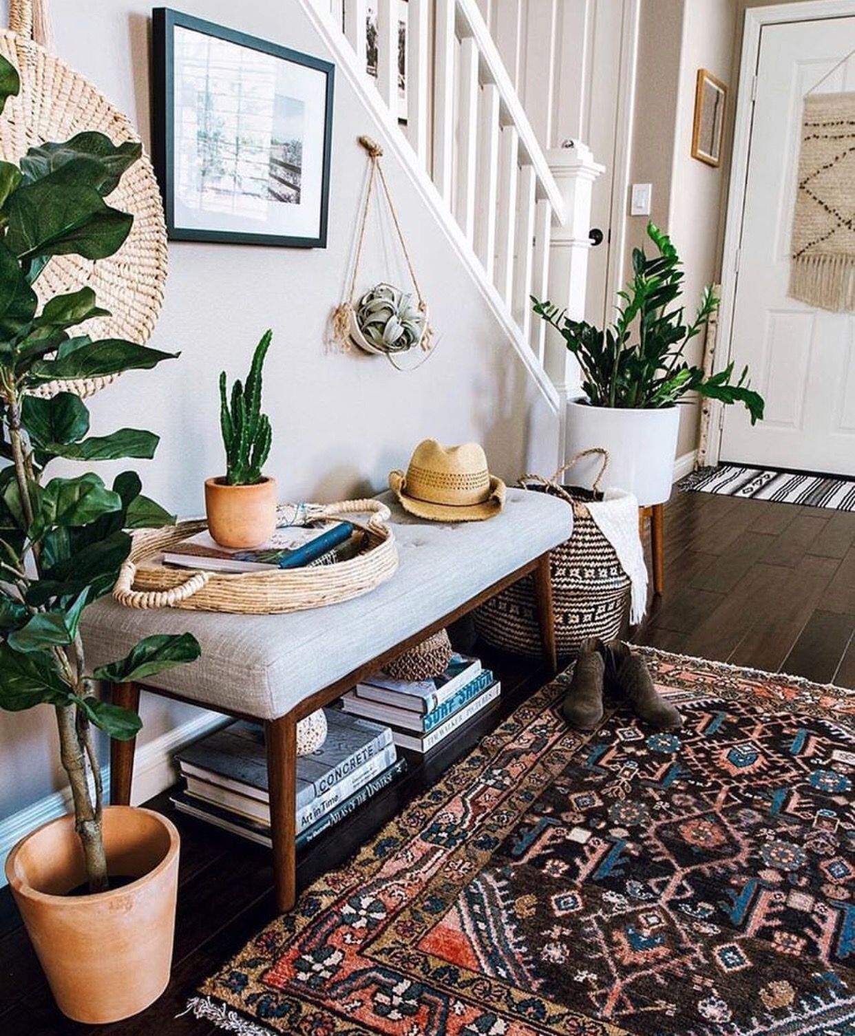 Love this stylish entryway it has everything a welcoming cozy