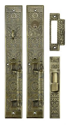 Victorian Windsor Pattern Single Entry Door Set Zb10set With Images Entry Doors Single Entry Doors Vintage Door Hardware