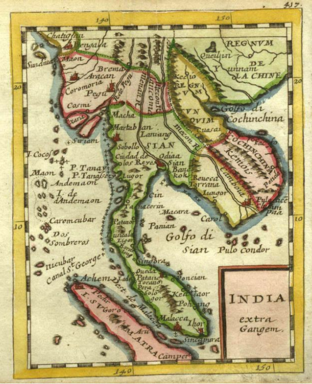 1707 Map of Siam