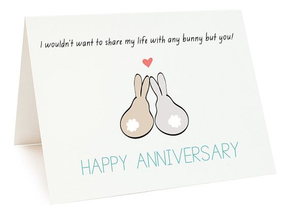Happy Anniversary Bunnies Digital Card Printable Anniversary Etsy Printable Anniversary Cards Free Printable Anniversary Cards Anniversary Cards For Wife