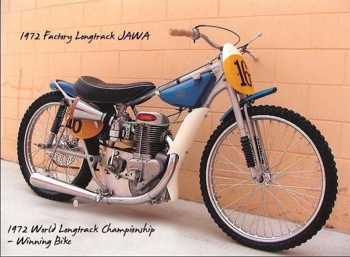 Speedway Motorcycle Racing Bikes: 1972 Factory Longtrack Jawa