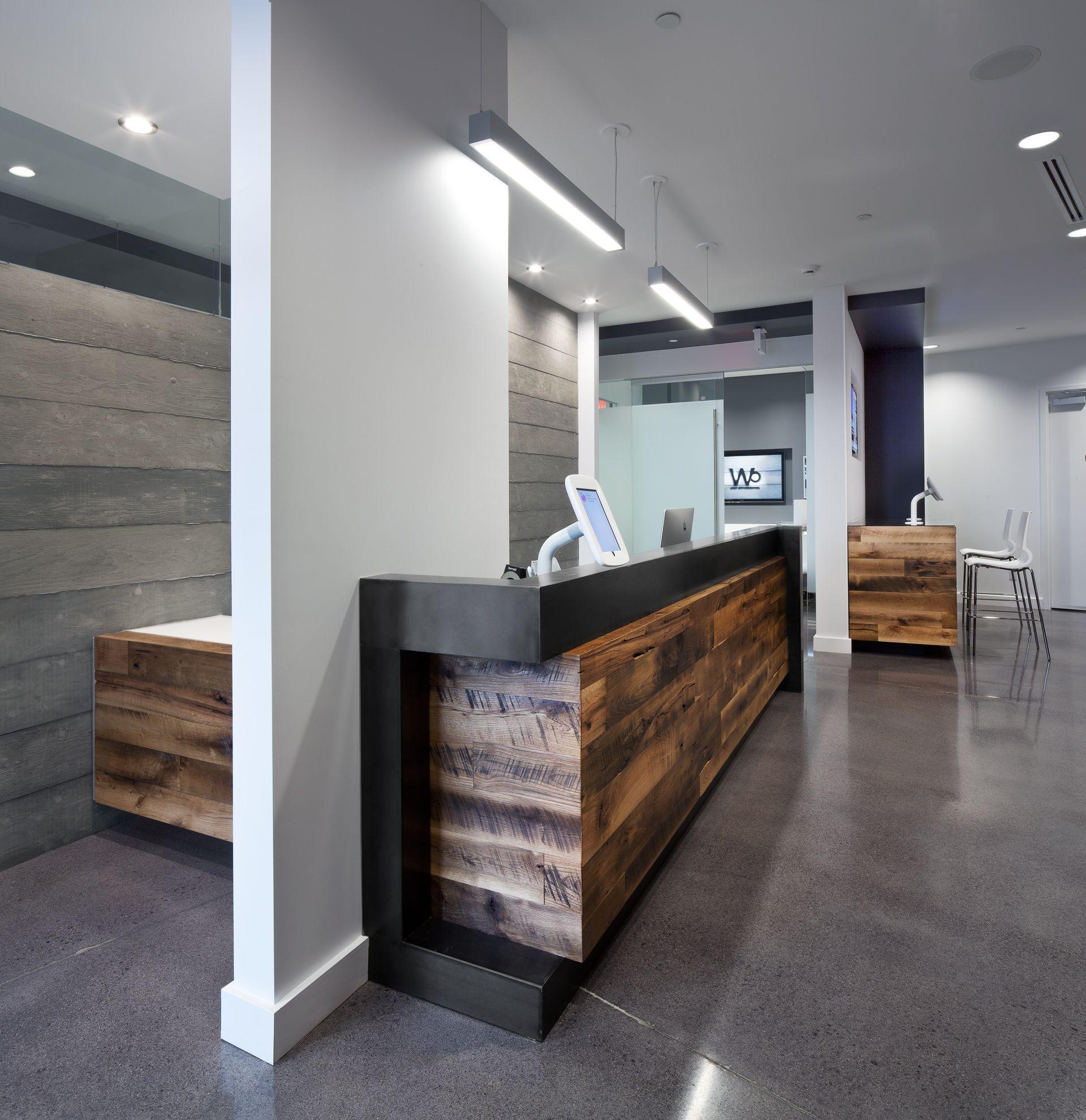 Walt Orthodontics Dental Office Design Reception Desk Design Modern Reception Desk