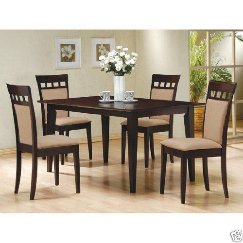 5Pcespressodiningroomkitchensettable4Microfiberhyde Impressive Espresso Dining Room Sets Inspiration