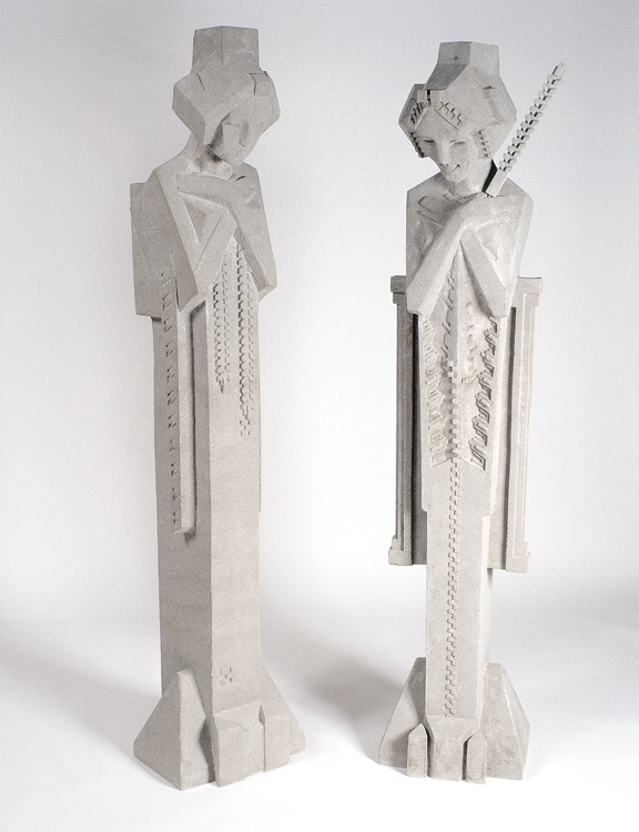 Exceptional Frank Lloyd Wright Large Midway Garden Sprite Statues Are Made With  Proprietary Dry Cast Stone.