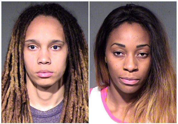 WNBA star Brittney Griner, fiancee Glory Johnson arrested after fight Brittney Griner  #BrittneyGriner