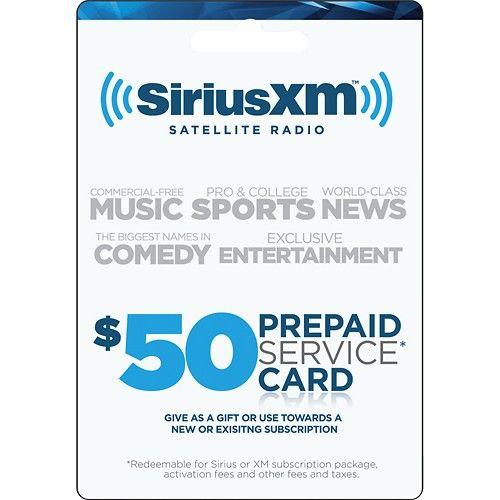 50 Prepaid Service Card For Siriusxm Satellite Radio Multi Sirius Xm Best Buy Radio Cool Things To Buy Cards