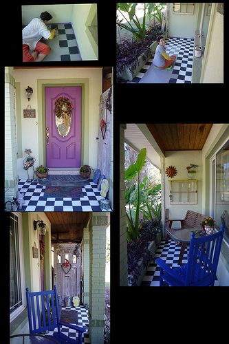 Annie sloan paint on the porch annie sloan paints glass table and annie sloan for Can you use exterior paint on the inside