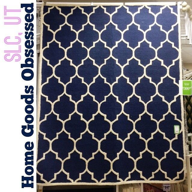 Incredible Quatrefoil Navy U0026 Cream 8x10 Rug $399.99 #homegoods  #homegoodshappy #homegoodsobsessed #interiors