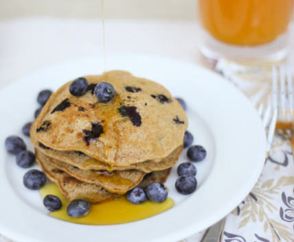 Naturally Sweet: Whole-Wheat Blueberry and Banana Pancakes