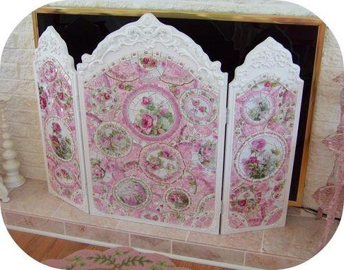 fireplace screen shabby chic lady in pink pinterest fireplace rh pinterest ie
